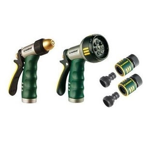 Melnor T200201QC-6 Trigger Hose Nozzle, Metal, Twin Pack