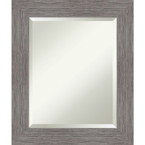 Pinstripe Plank Grey Bathroom Vanity Wall Mirror. Opens flyout.