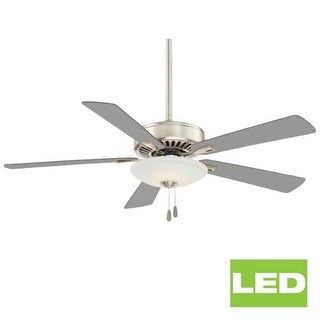 """MinkaAire Contractor Uni-Pack LED Contractor 52"""" 5 Blade LED Indoor Ceiling Fan with Blades and Integrated Light Included (Option: Polished)"""