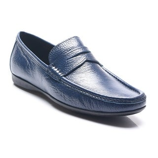 Bruno Magli Men's Leather Partie Penny Loafers Shoes Navy