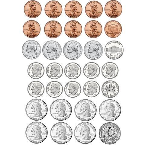 (6 Pk) Math Die Cut Magnets U.S. Coins