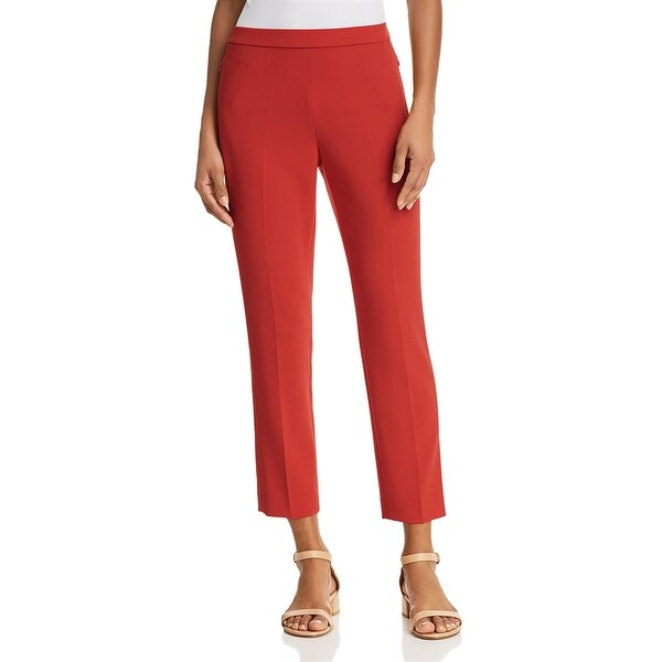 Theory Womens Straight Leg Pants Stretch Mid-Rise