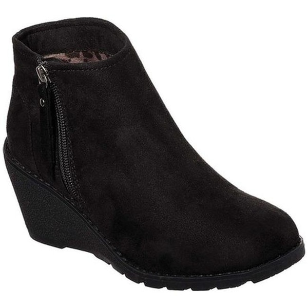 Shop Skechers Women S Bobs Tumble Weed Wedge Ankle Boot