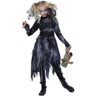 California Costumes Zombie Girl Child Costume - Black