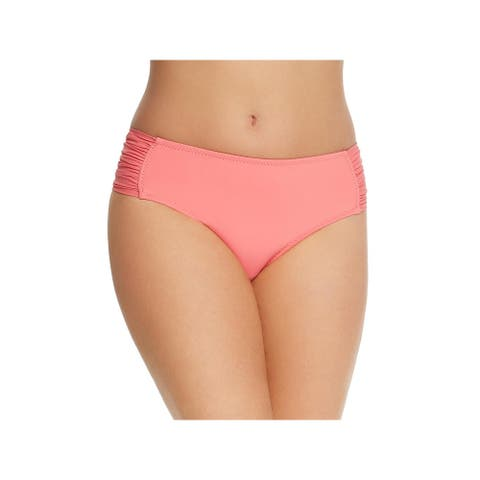Becca Womens Plus Tab Side Hipster Swim Bottom Separates