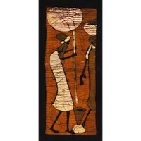 ''Batik V'' by Setsinala Kunst Graphics Art Print (19.75 x 9 in.)
