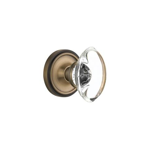 Nostalgic Warehouse CLAOCC_PRV_234_NK Oval Clear Crystal Solid Brass