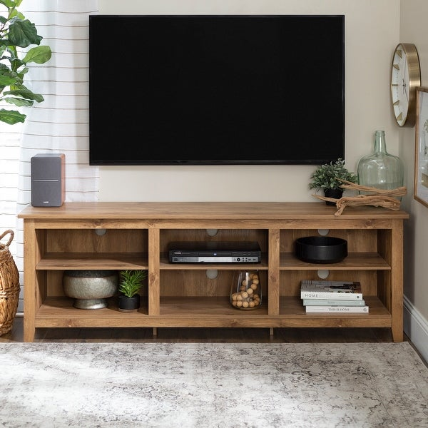 Copper Grove Beaverhead 70-inch Barnwood TV Stand Console. Opens flyout.