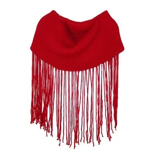 Cecilia Undercover Women's Wool Knit Loop Scarf with Long Fringe - One Size