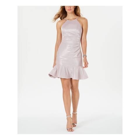 NIGHTWAY Pink Sleeveless Above The Knee Dress 8