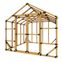 10X10 E-Z Frame Greenhouse or Storage Shed Kit - 10'x10'