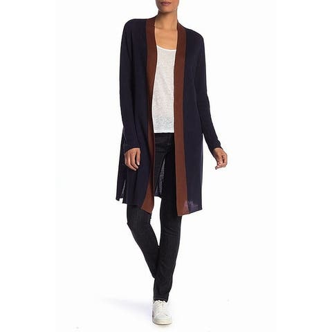 Eileen Fisher Women's Sweater Medium Colorblocked Cardigan