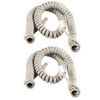 Link to Unique Bargains 2pcs 3Meter 10Ft RJ9 4P4C Coiled Stretchy Telephone Handset Cable Line Gray Similar Items in Cables & Connectors
