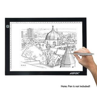 LED Artcraft Tracing Light Pad Tatoo Pad A4 Size w/ Memory Function USB Powered 6000k White