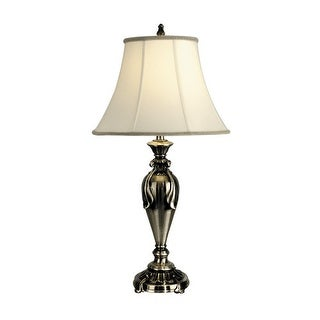 Dale Tiffany PT90286 1 Light Fabric Table Lamp with Fabric Shade - antique pewter
