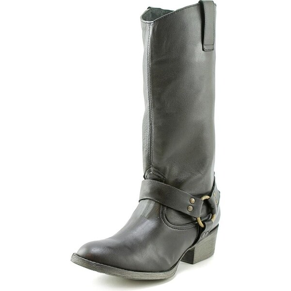 Matisse Harnes Women 2E Round Toe Leather Black Mid Calf Boot