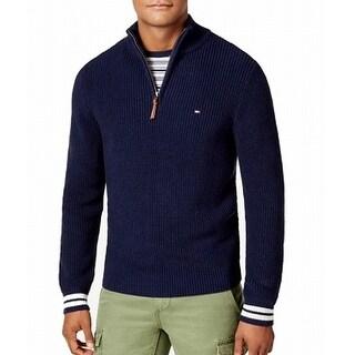 Tommy Hilfiger Navy Blue Mens Size 2XL 1/2 Zip Mock-Neck Sweater