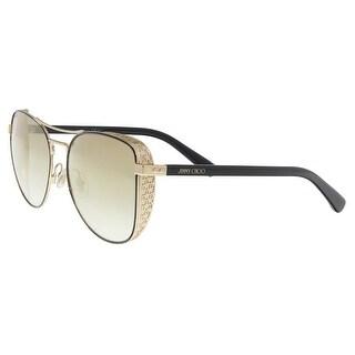 Jimmy Choo SHEENA/S 02M2 Black Gold Aviator Sunglasses - 58-17-140
