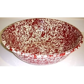 "Crow Canyon D24BRM Small Basin, 12"" Diameter, Burgundy on Cream Marble"