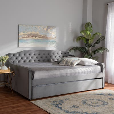 Silver Orchid Titus Contemporary Daybed with Trundle