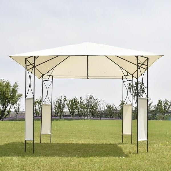 Costway 10u0026#x27;x10u0026#x27; Square Gazebo Canopy Tent Shelter Awning Garden