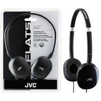 Jvc Has160b Flats Lightweight Headband Headphones (Black)