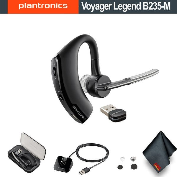 Shop Plantronics Voyager Legend B235 M Uc Mobile Bluetooth Headset Bundle Overstock 27422724