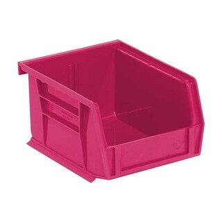 "Offex Ultra Pink Stack and Hang Bin 5-3/8"" X 4-1/8"" X 3"" - 24 Pack"