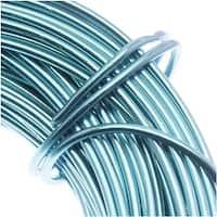 Aluminum Craft Wire Peacock Blue 18 Gauge 39 Feet  (11.8 Meters)