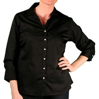 Jockey Misses 3/4 Sleeve Woven Twill Shirt