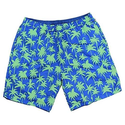 Islandia Men's Reversible Solid-Print Swim Shorts