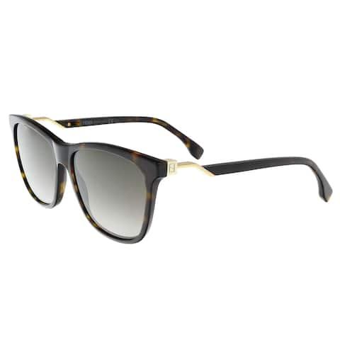 e79c7fd9a956a Fendi FF 0199 S 86 Dark Havana Square Sunglasses