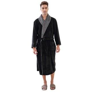 Richie House Men's Warm and Soft Fleece Robe Bathrobe