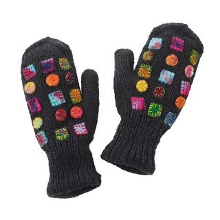 Women's Mittens - Felt Patches Accessories