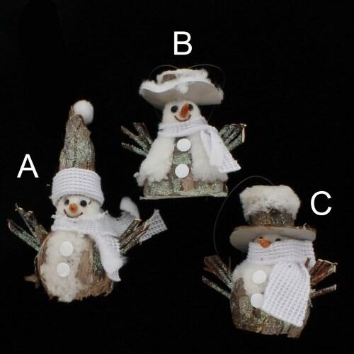 Bark Twig Snowman