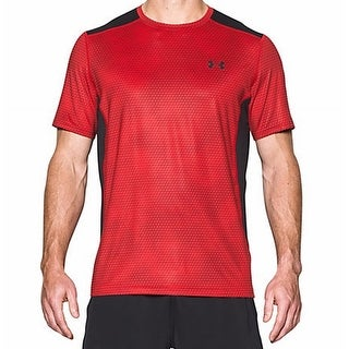 Under Armour NEW Red Mens Size Small S Fitted Performance Tee T-Shirt
