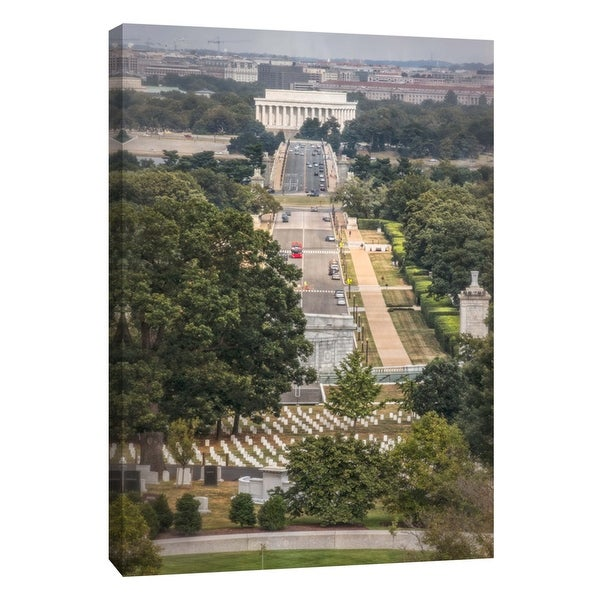 "PTM Images 9-105996 PTM Canvas Collection 10"" x 8"" - ""Washington DC From Arlington Cemetery"" Giclee Cityscapes Art Print on"