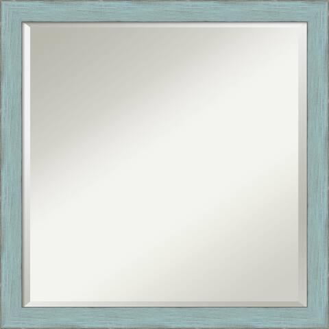 Wall Mirror Square, Sky Blue Rustic 23 x 23-inch - square - 23 x 23-inch