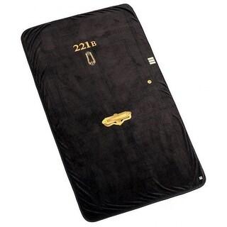 """Sherlock 221B Baker Street Door 50""""x85"""" Fleece Throw Blanket - Multi"""