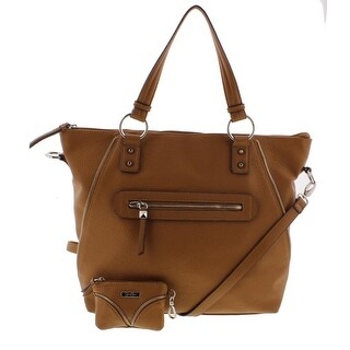 Jessica Simpson Womens Marley Tote Handbag Faux Leather Convertible - Large