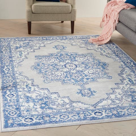 Nourison Whimsicle Modern Persian Floral Medallion Area Rug
