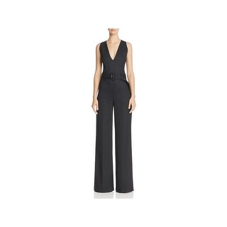 Theory Womens Jumpsuit Wool Sleeveless