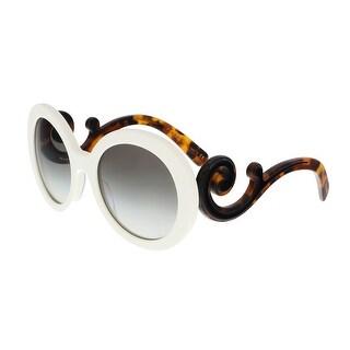Prada PR 08TS VAG0A7 White Round Minimal Baroque Sunglasses - 55-22-135