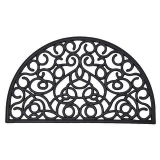 Link to Outdoor Half Round Front Door Mat Rubber Rug 30x18 Inch Black Similar Items in Decorative Accessories