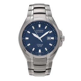 Citizen Men's Titanium 'Eco-Drive' BM7170-53L Sapphire Dial Bracelet Watch