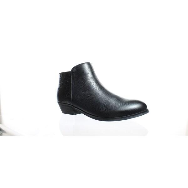 84064aba00f6dd Shop Softwalk Womens Rocklin Black Crocodile Ankle Boots Size 6.5 ...