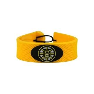Boston Bruins Team Color NHL Gamewear Leather Hockey Bracelet
