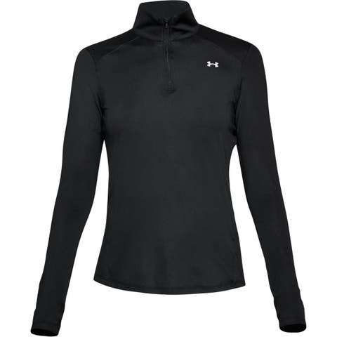 Under Armour Women's Speed Stride 1/4 Zip Running Top , Black 001, Large