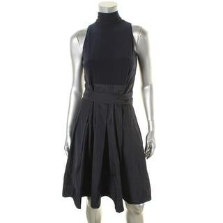 Lauren Ralph Lauren Womens Semi-Formal Dress Taffeta Wrap