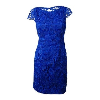 Vince Camuto Women's Illusion-Back Lace Overlay Sheath Dress